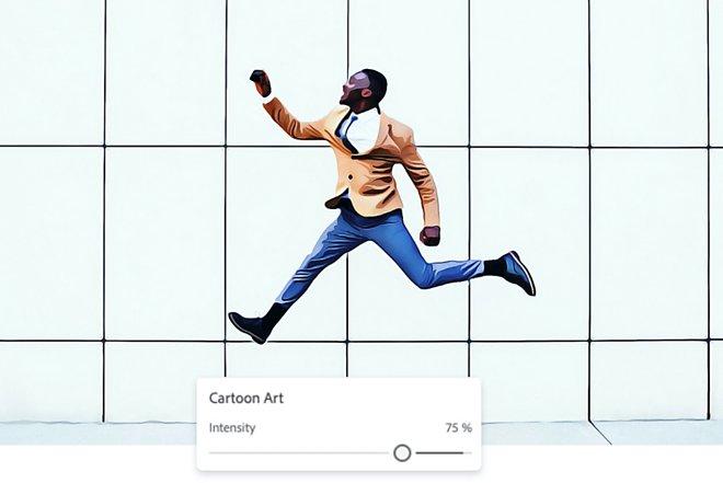 Стилизованное фото мужчины, прыгающего на поле для редактирования фотографий