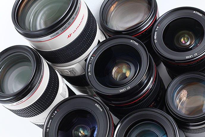 full-frame-shot-of-camera-lenses