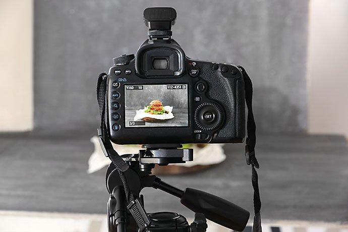Food through camera lense