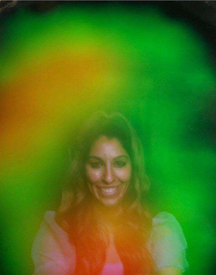 Aura photo of a person