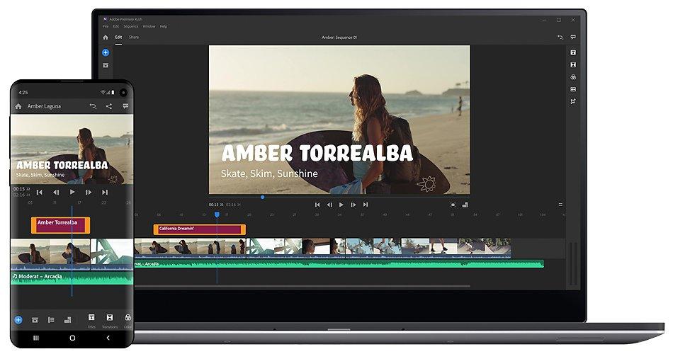 Video Editing App Edit Anywhere Adobe Premiere Rush