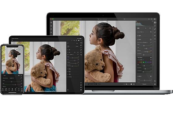 Retouchez vos photos partout avec Adobe Lightroom.
