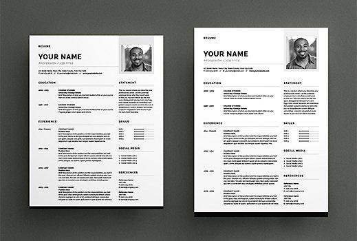 Get Free Resume Templates Adobe